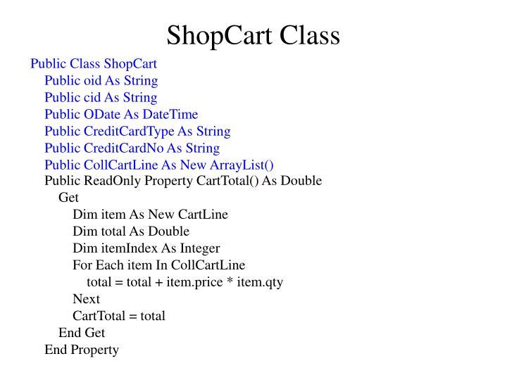 ShopCart Class