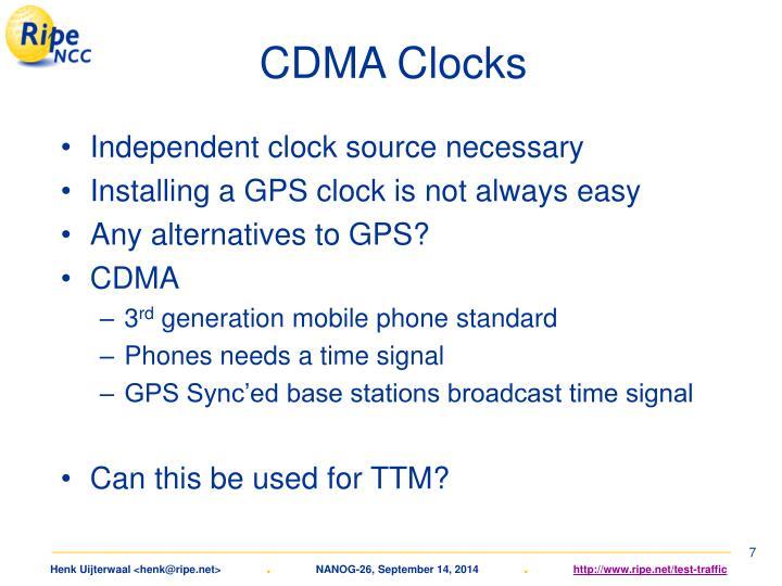 CDMA Clocks