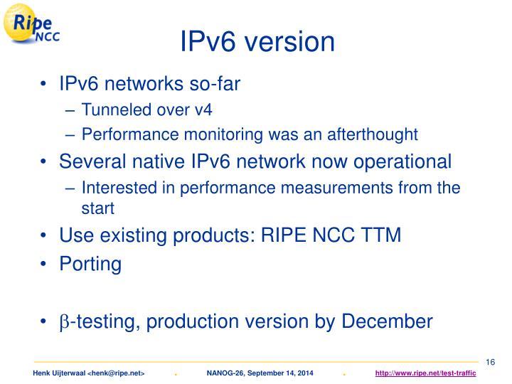 IPv6 version