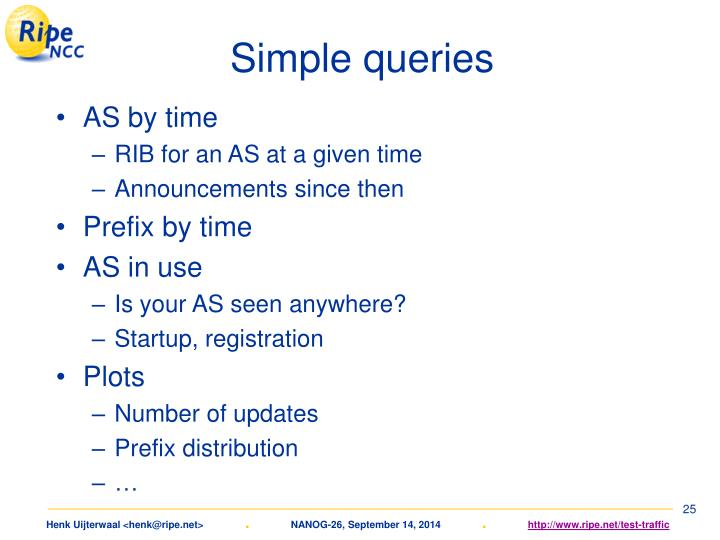 Simple queries