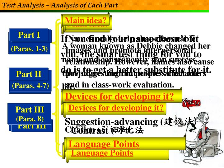 Text Analysis – Analysis of Each Part