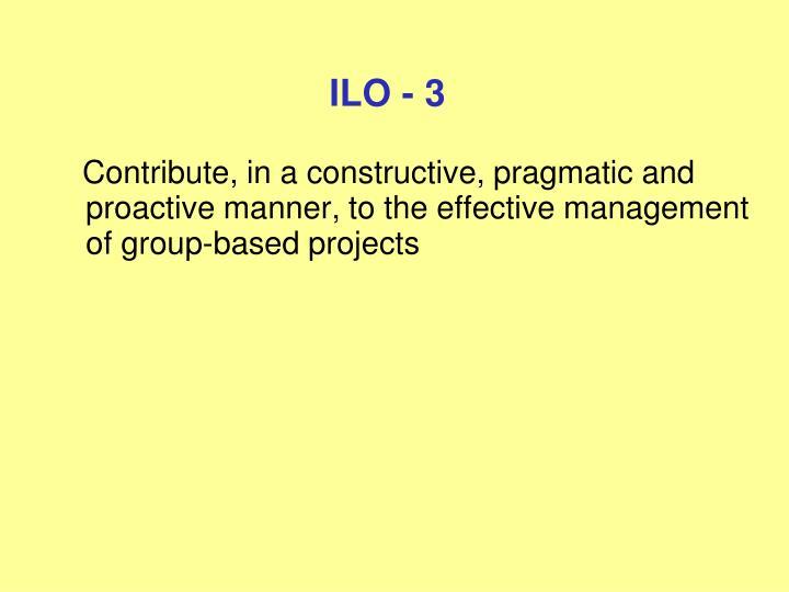 ILO - 3