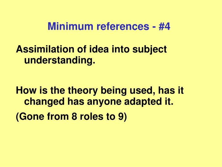 Minimum references - #4