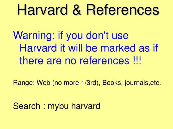 Harvard & References