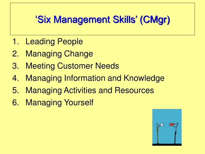'Six Management Skills' (CMgr)