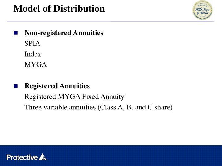 Model of Distribution