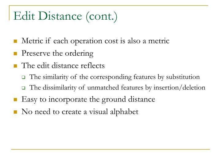 Edit Distance (cont.)
