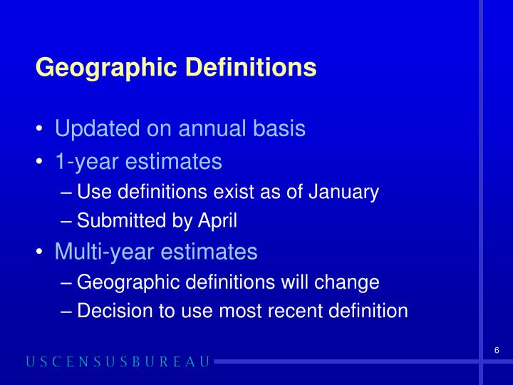 Geographic Definitions