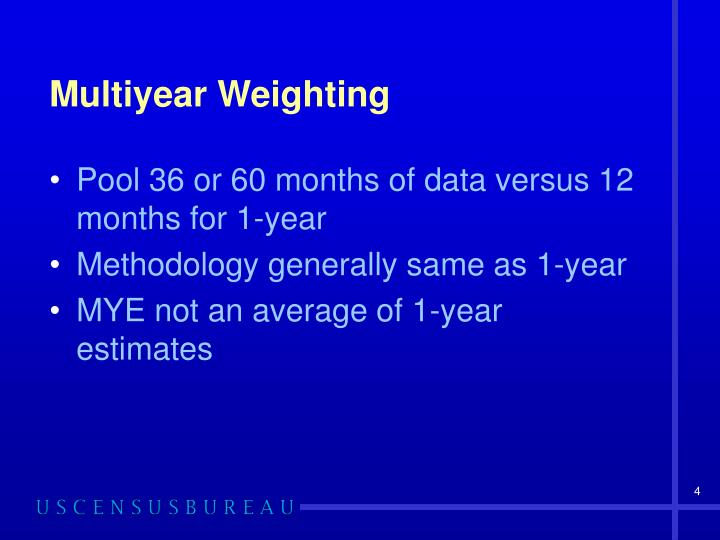 Multiyear Weighting