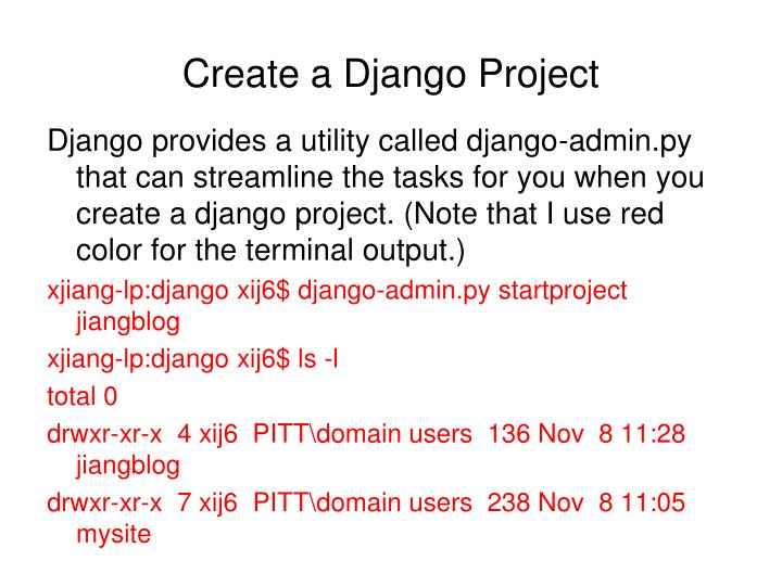Create a Django Project