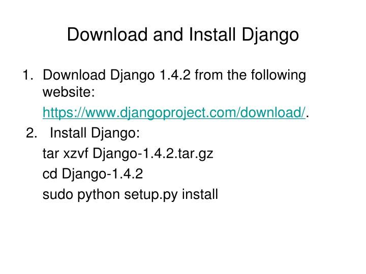 Download and Install Django