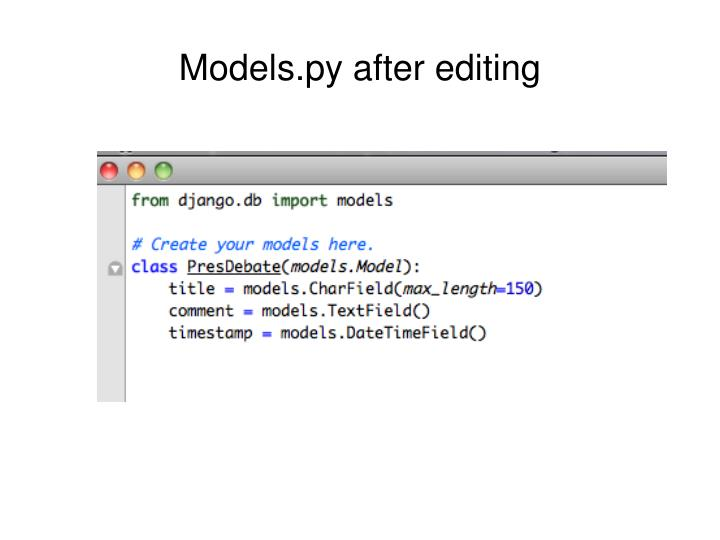Models.py after editing