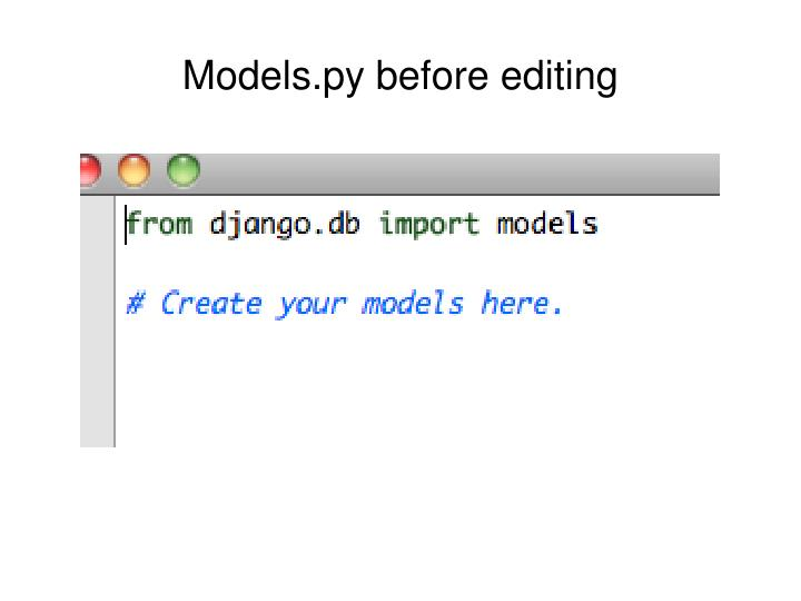 Models.py before editing