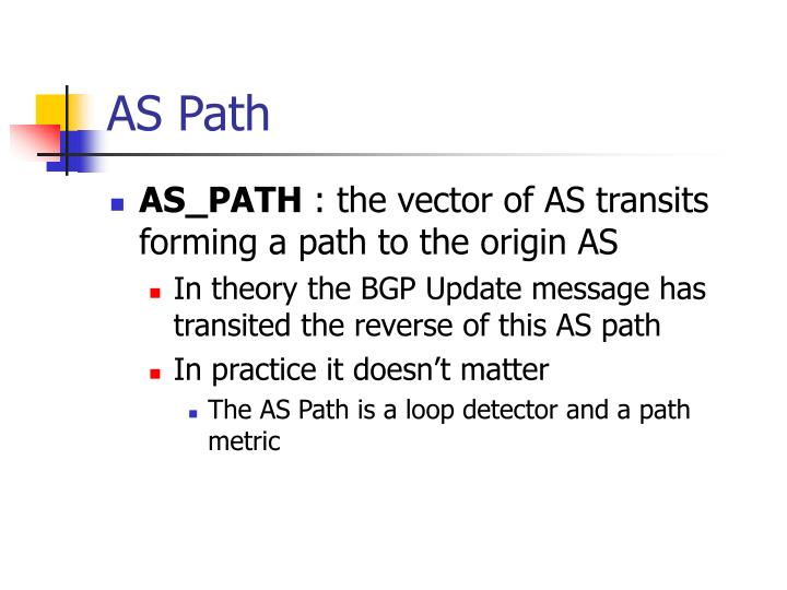 AS Path