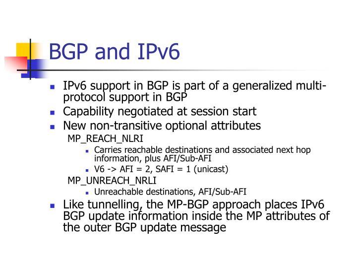 BGP and IPv6
