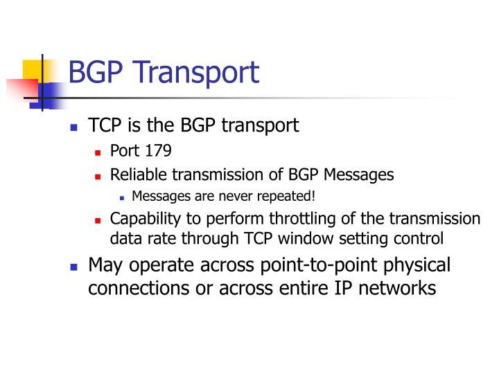 BGP Transport