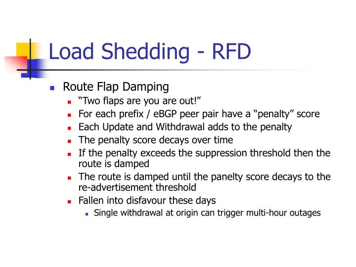 Load Shedding - RFD
