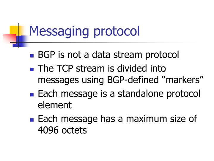 Messaging protocol