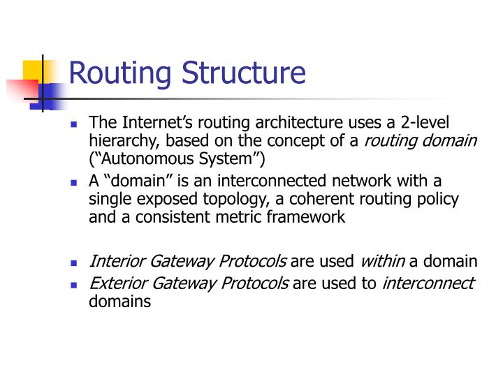 Routing Structure