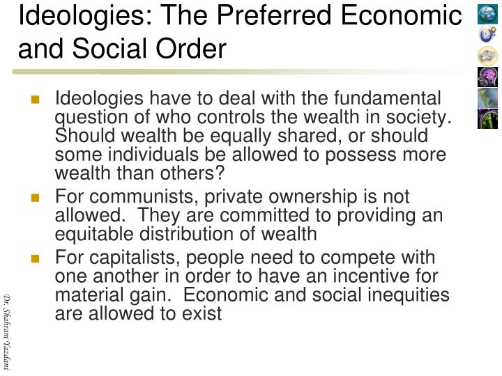 Ideologies: The Preferred Economic and Social Order