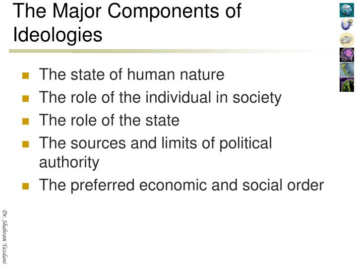 The Major Components of Ideologies