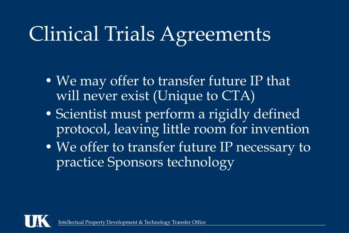 Clinical Trials Agreements