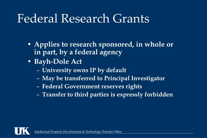 Federal Research Grants