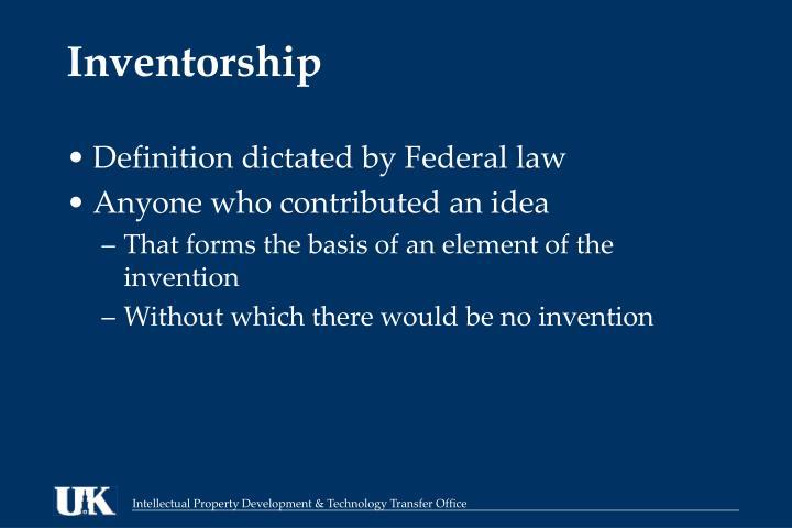 Inventorship