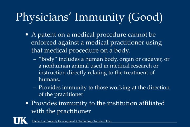 Physicians' Immunity (Good)