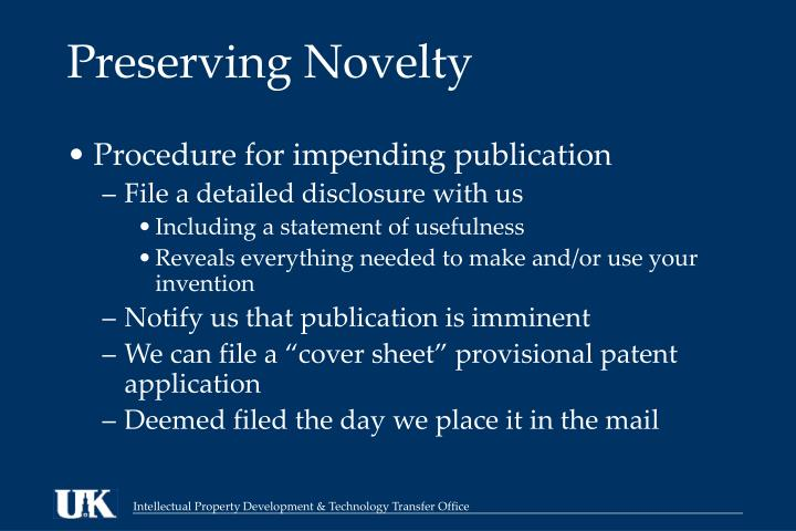 Preserving Novelty