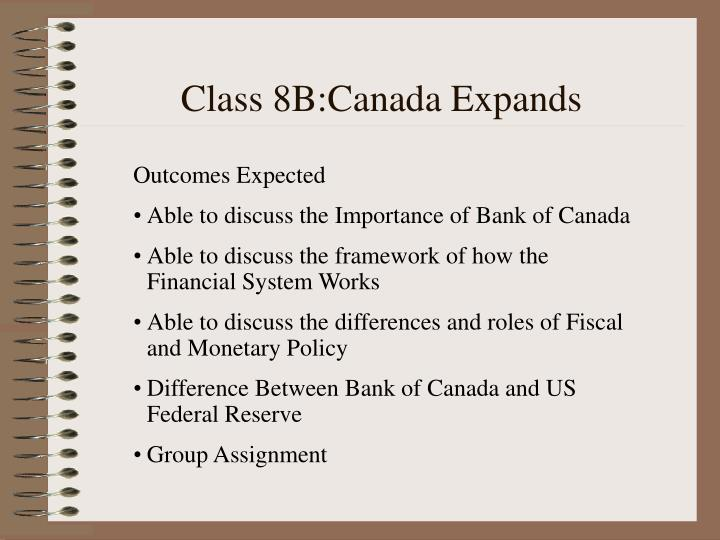Class 8B:Canada Expands