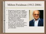 milton freidman 1912 2006