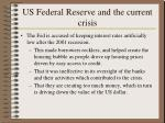 us federal reserve and the current crisis