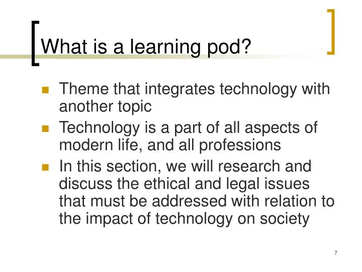 What is a learning pod?
