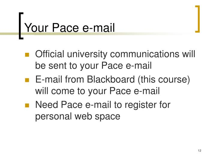 Your Pace e-mail