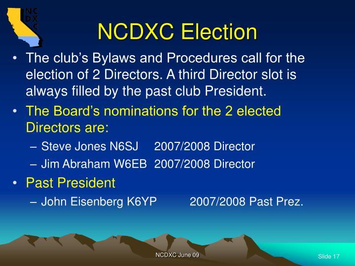 NCDXC Election