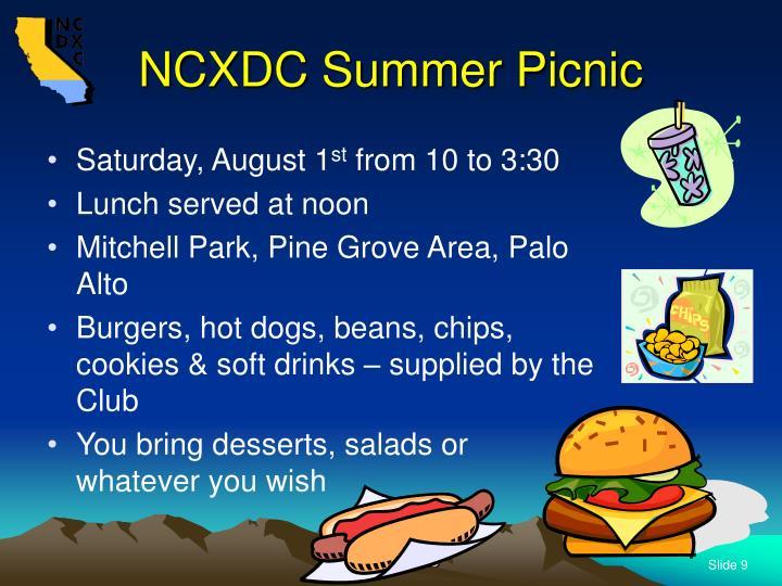NCXDC Summer Picnic