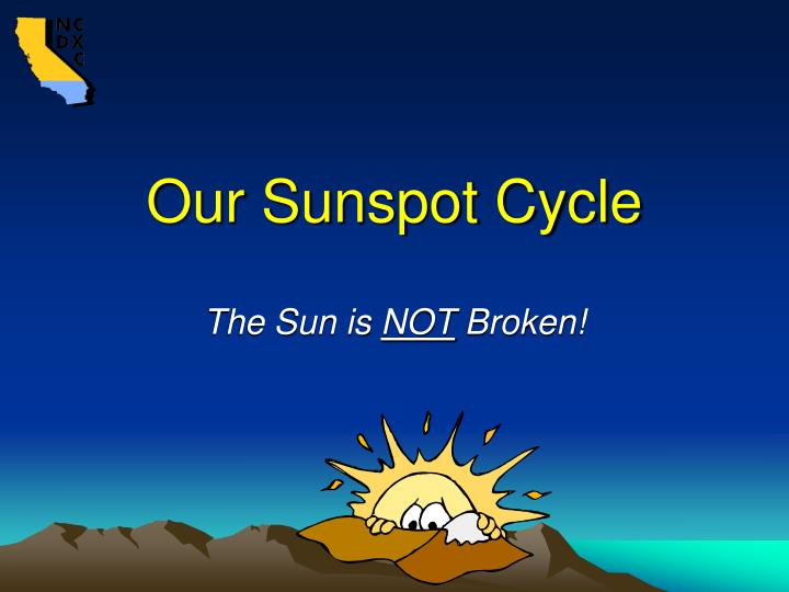 Our Sunspot Cycle