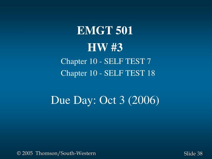 EMGT 501