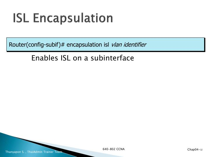 ISL Encapsulation