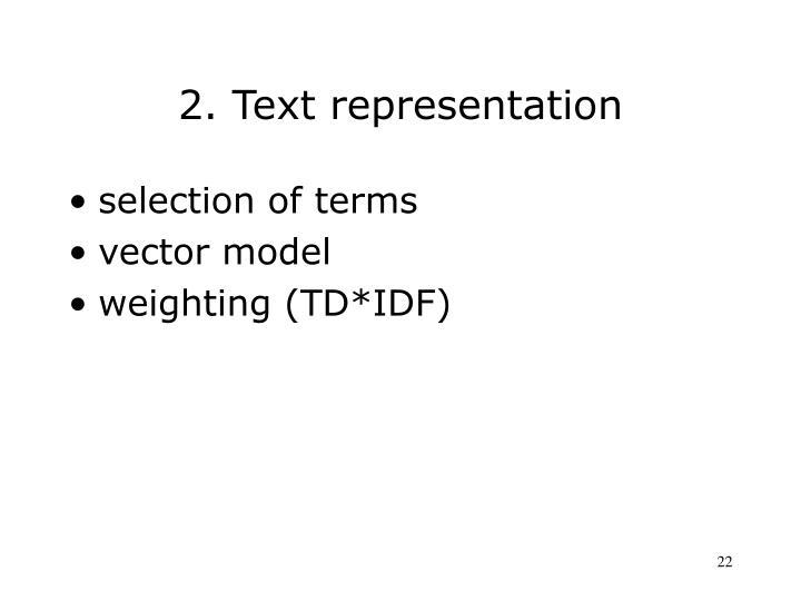 2. Text representation