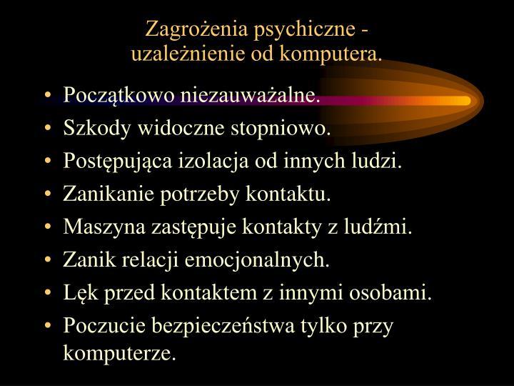 Zagrożenia psychiczne -
