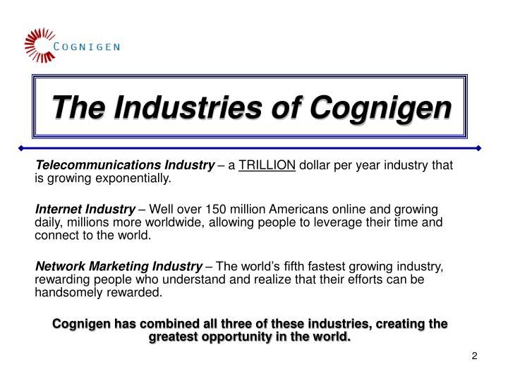 The Industries of Cognigen
