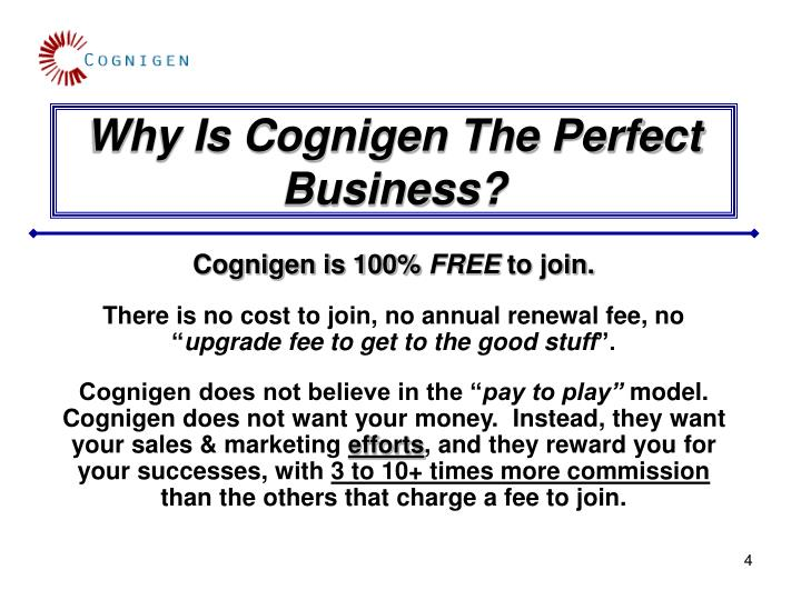 Why Is Cognigen The Perfect Business?