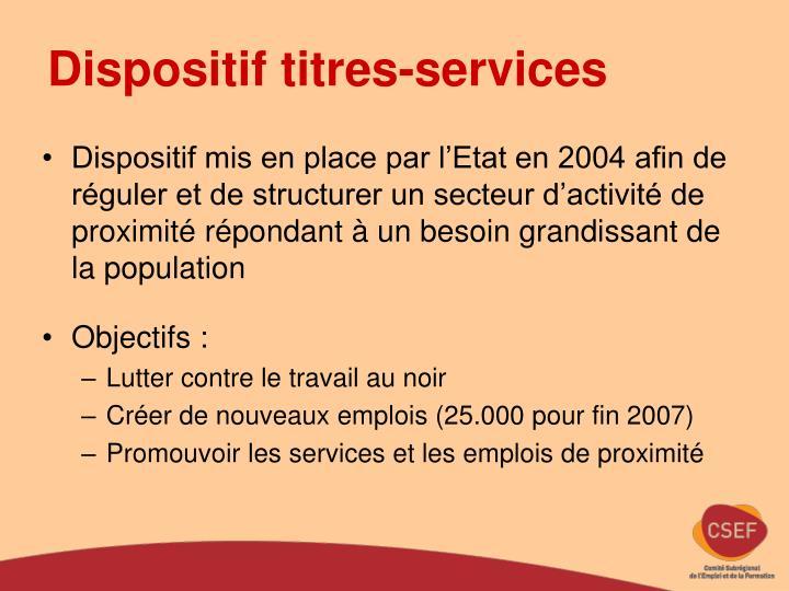 Dispositif titres-services