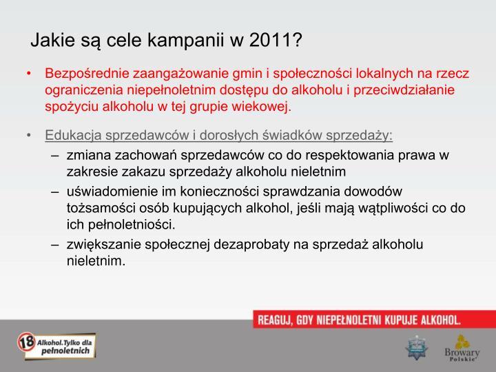 Jakie są cele kampanii w 2011?