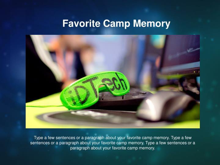 Favorite Camp Memory