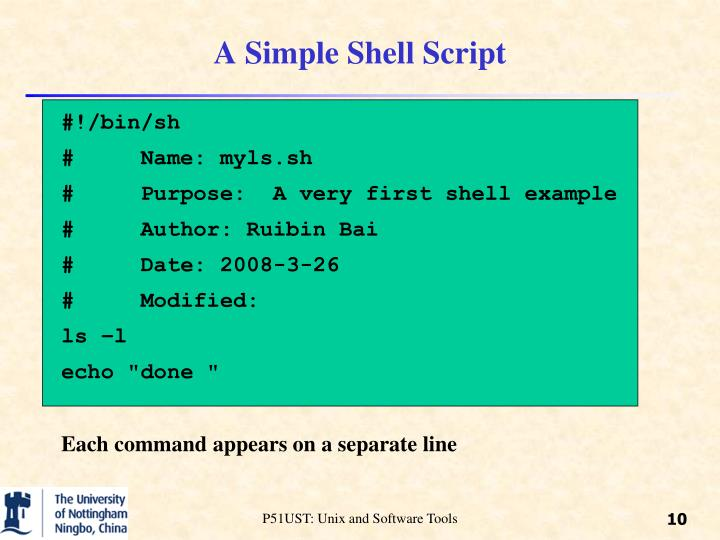 A Simple Shell Script