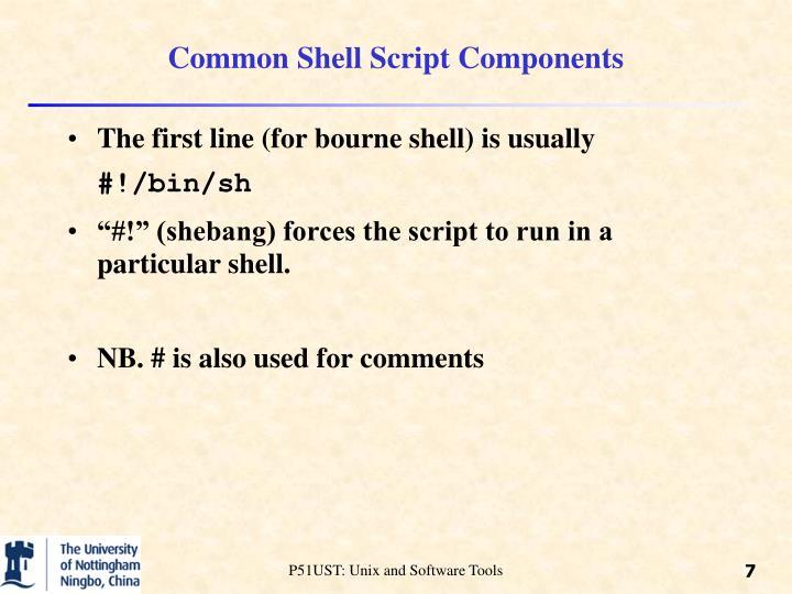 Common Shell Script Components