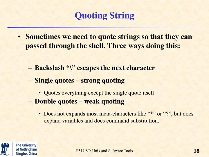 Quoting String
